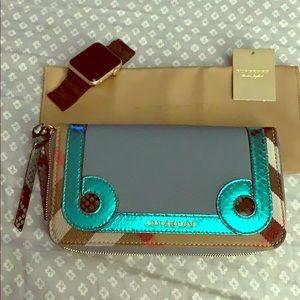 Burberry Elemore CeladonBlue wallet